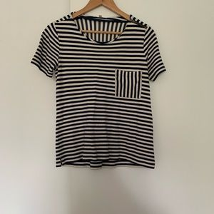Madewell Striped Pocket Tee, Sz Small